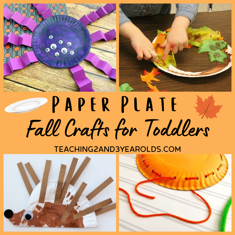 Paper Plate Fall Crafts for Toddlers and Preschoolers