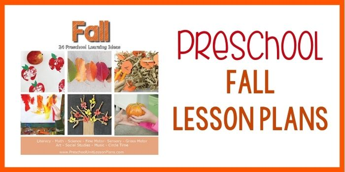 Preschool Lesson Plans Fall
