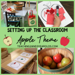 Putting Together the Toddler and Preschool Apple Theme