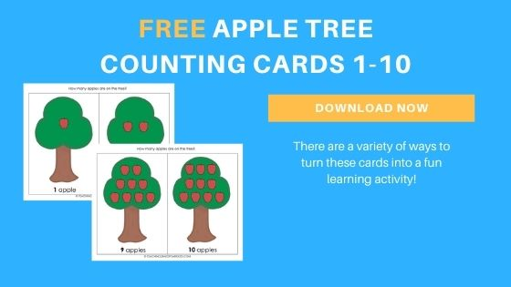 apple counting printable