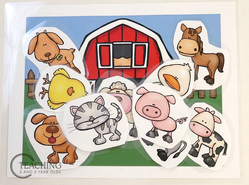 Free Barn and Farm Animals Printable