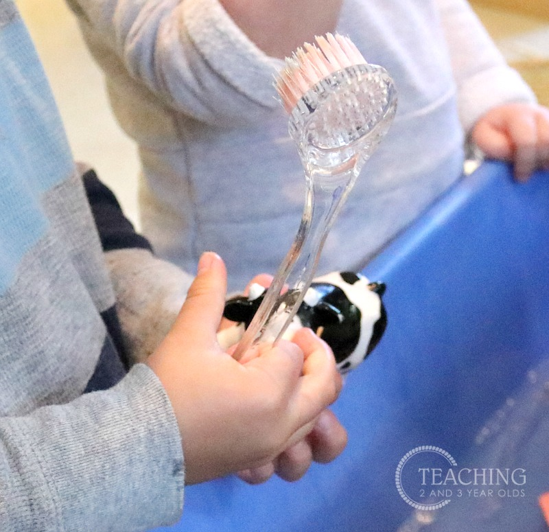Washing the Farm Animals Activity for Toddlers