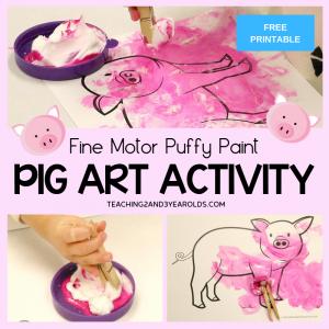 2-Ingredient Pig Painting Craft that Builds Fine Motor Skills