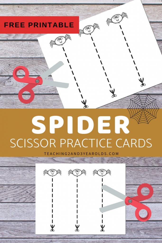 Free Spider Scissor Practice Printable Cards