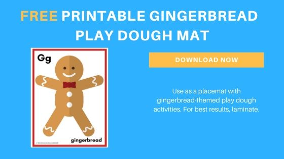 Gingerbread Printable Playdough Mat