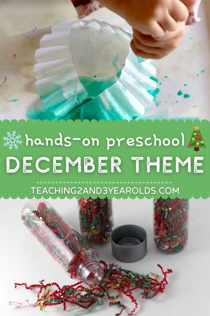 Hands-On Ideas for Your Preschool December Themes {Toddlers, too!}
