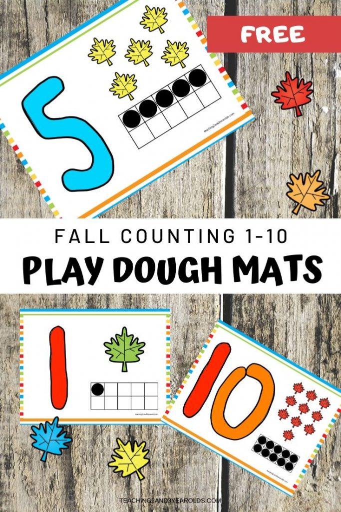 fall playdough math activity