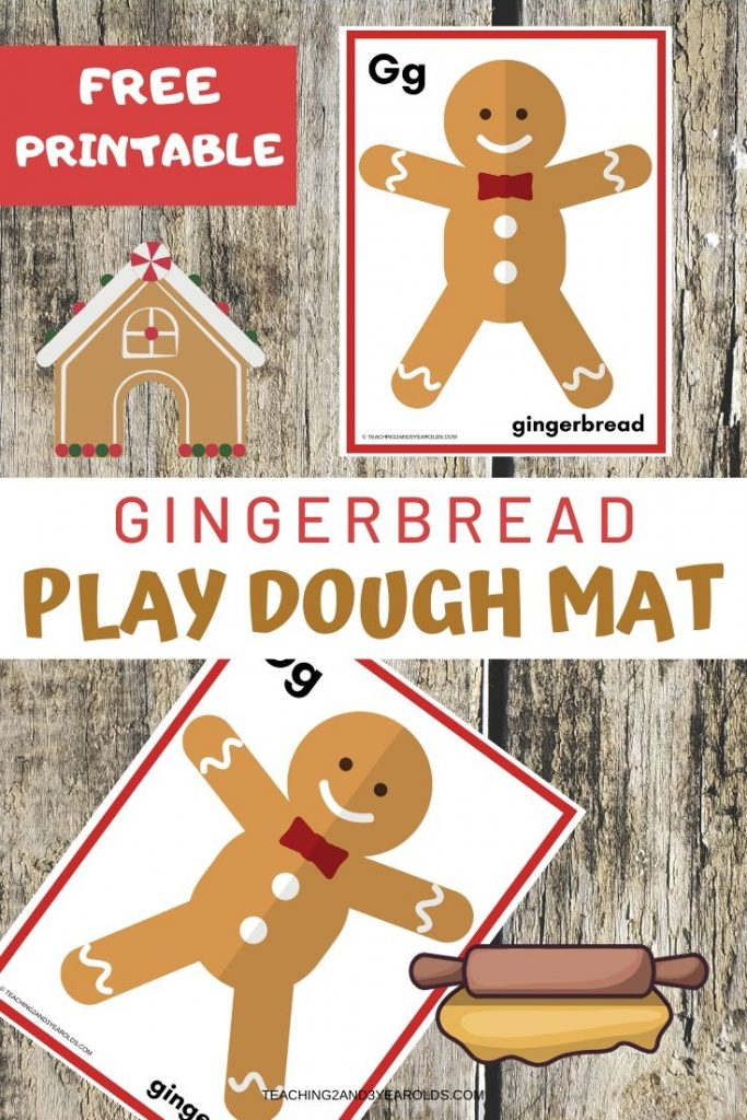 Gingerbread Printable Playdough Mat
