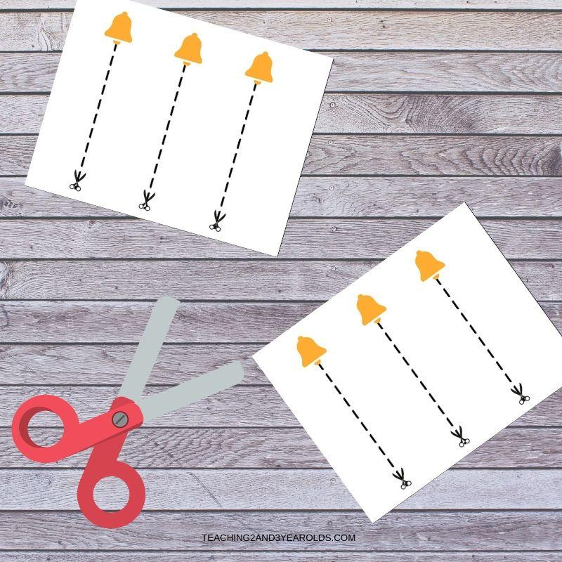 Free Bell Scissor Practice Printable Cards