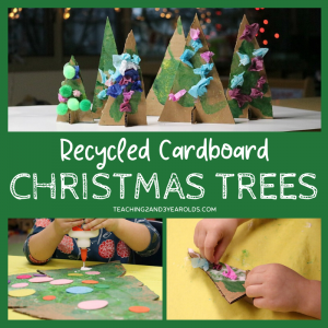 Cardboard Christmas Tree Art Activity for Kids