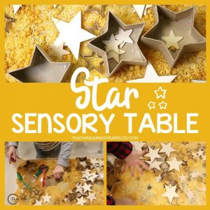 Christmas Sensory Play Activity with Stars