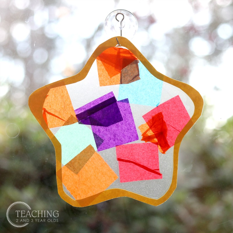 Colorful Star Suncatcher {with Printable Template}