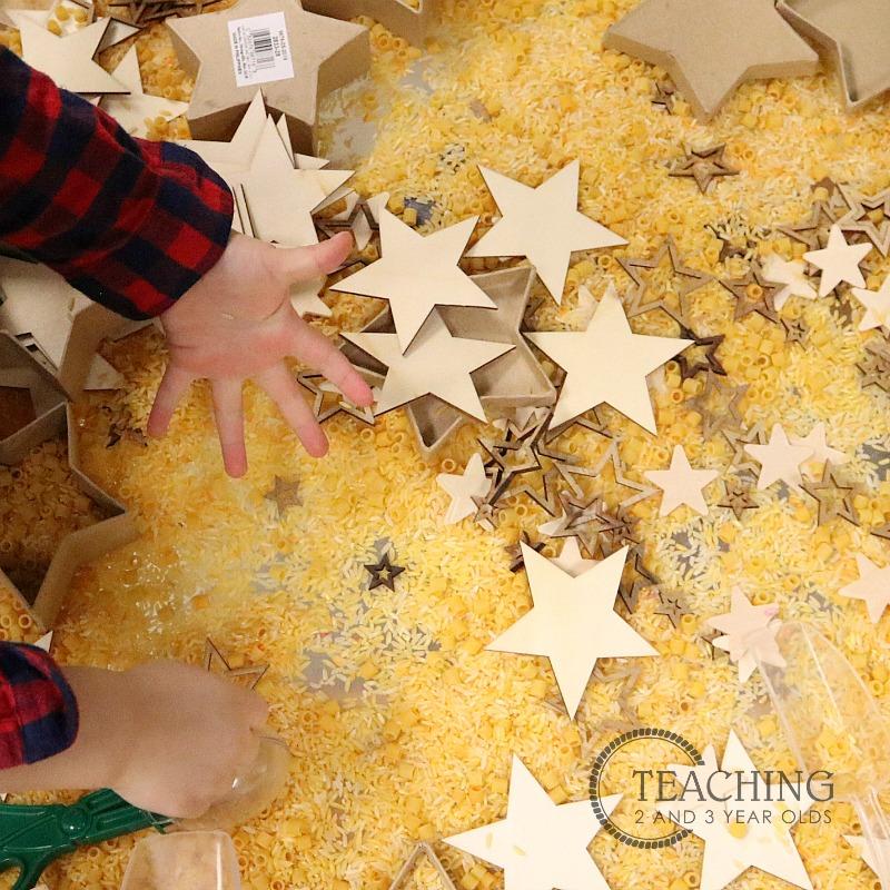 Christmas Sensory Play Activity with Stars