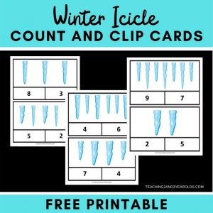 Preschool Winter Math Count and Clip Cards