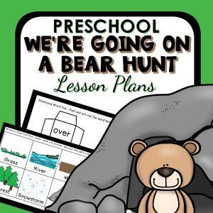 preschool bear hunt lesson plans