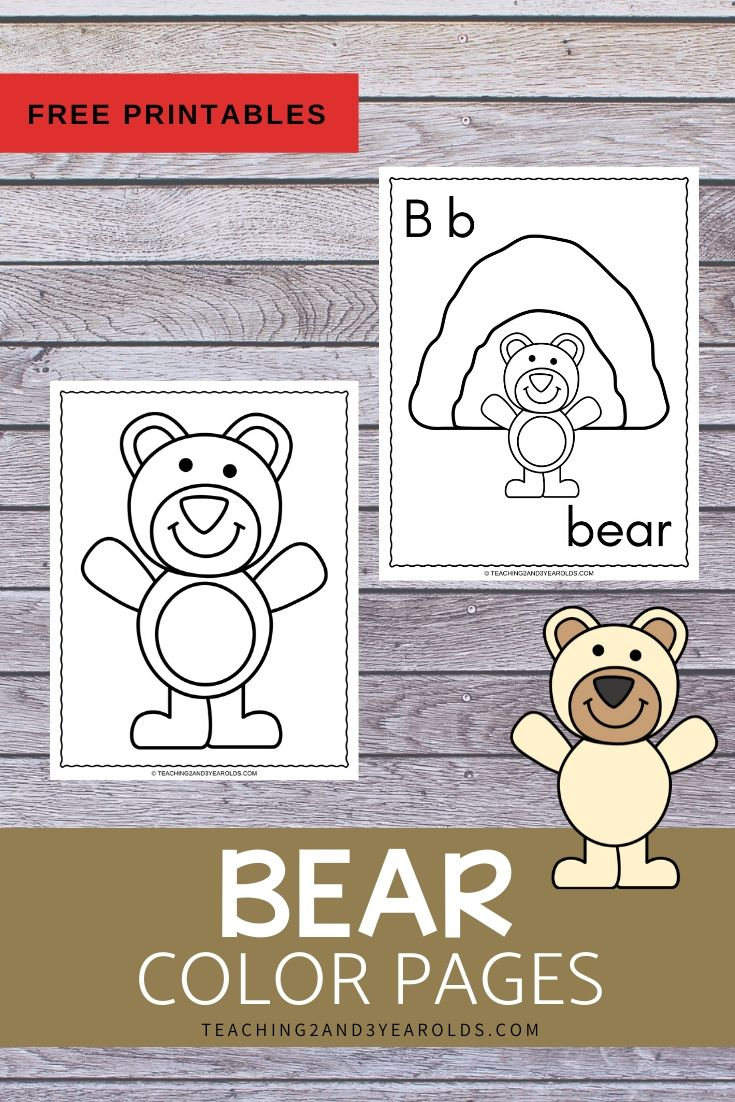 Bear Theme Color Pages {FREE}
