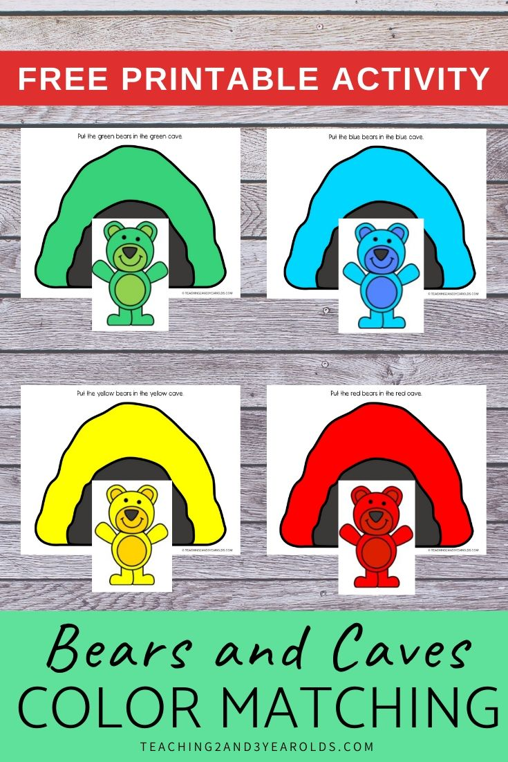 Bear Color Matching Activity