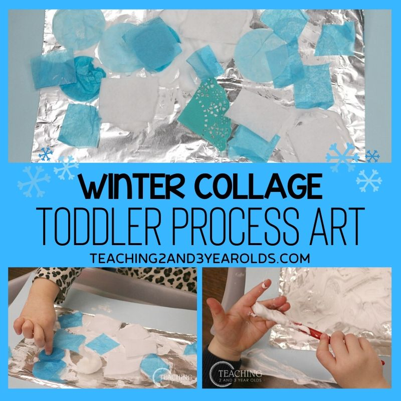 Easy Toddler Winter Art Collage