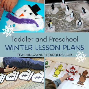 Toddler and Preschool Winter Lesson Plans