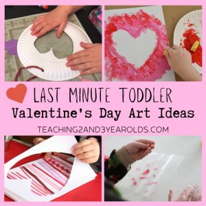 Last Minute Toddler Valentine's Day Art Ideas