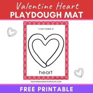 Free Valentines Playdough Printable Mat
