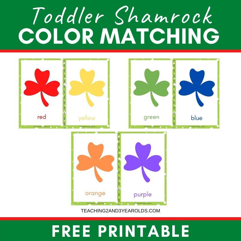 Free Toddler Shamrock Printable