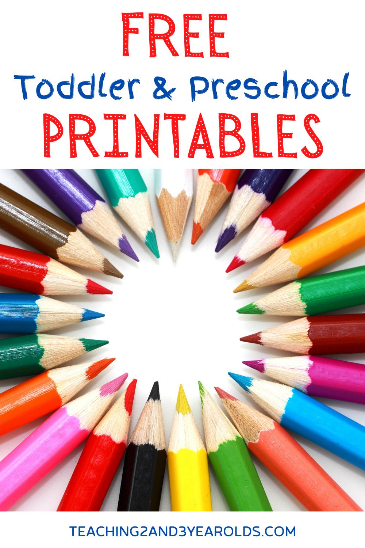 Free Preschool Printables For School