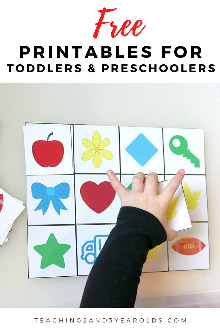 free toddler and preschool printables