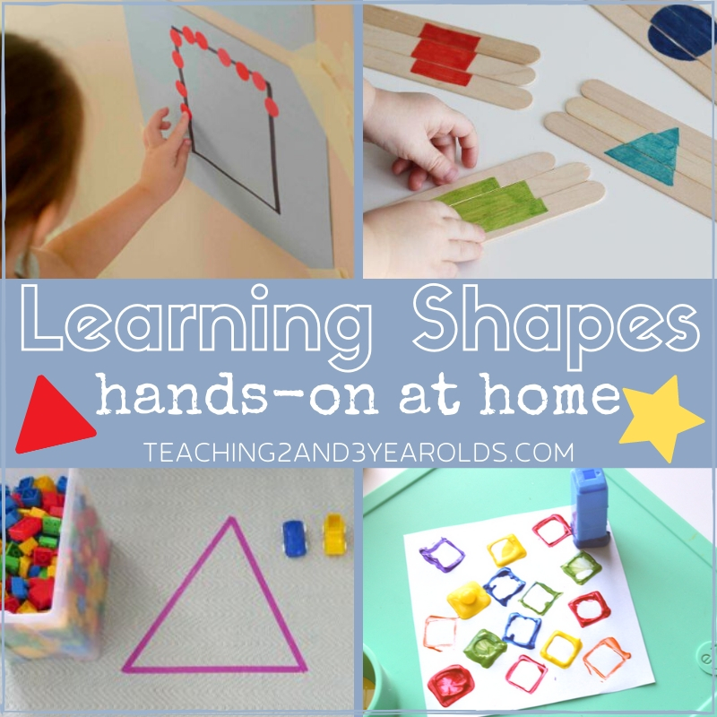 Learning Shapes at Home with Hands-On Activities