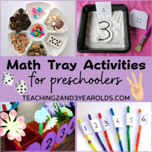 15+ Preschool Math Activities that Can Be Done on a Tray
