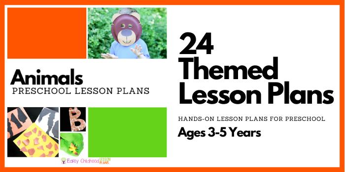 preschool animals lesson plans