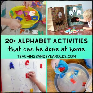 Toddler and Preschool Alphabet Activities for Home