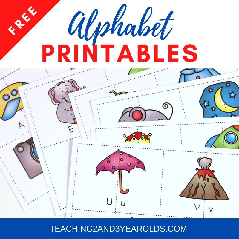Free Toddler and Preschool Literacy Printables