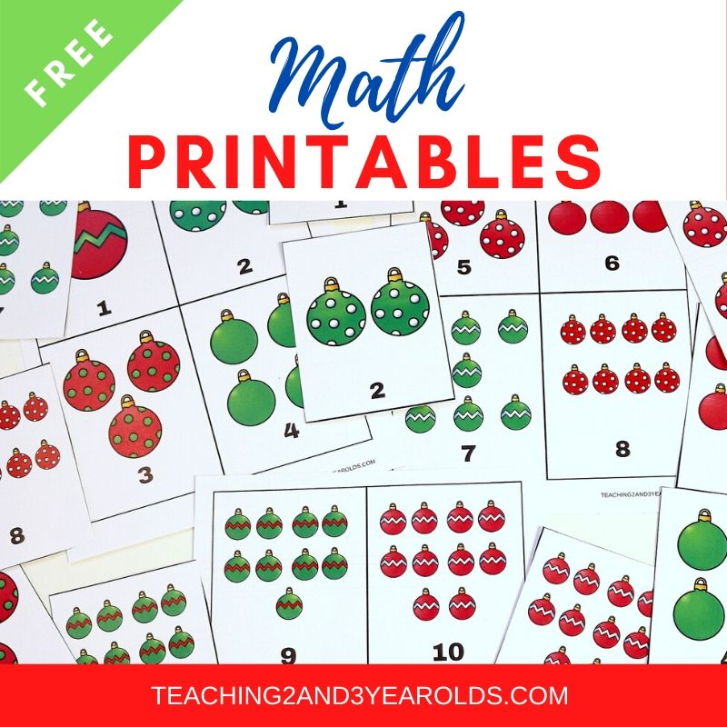 Free Toddler and Preschool Math Printables
