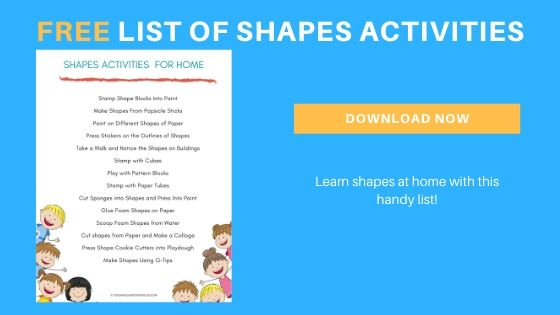 preschool shapes activities printable list