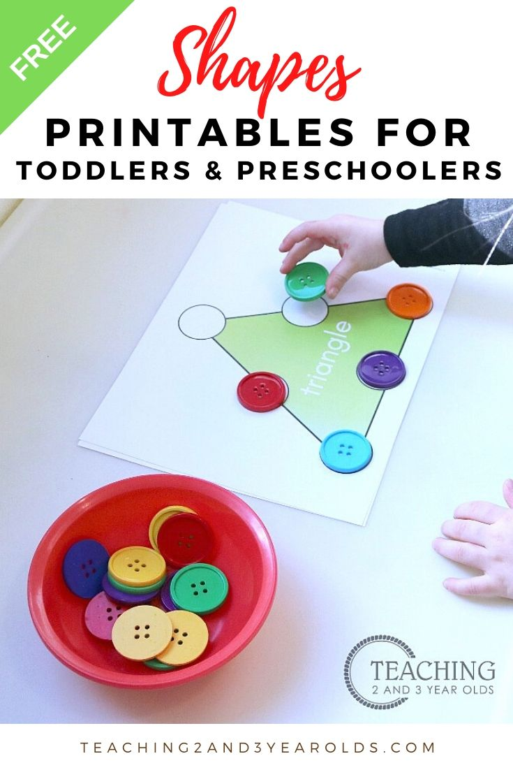 Free Toddler and Preschool Shapes Printables