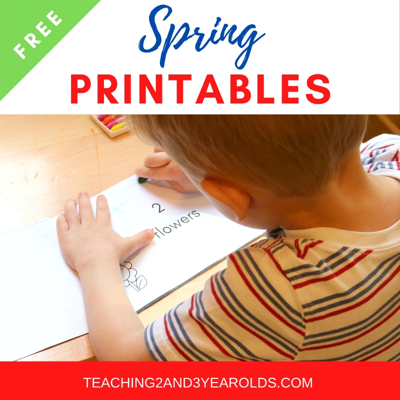 toddler and preschool spring printables
