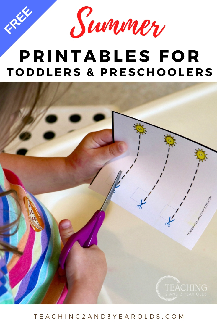 toddler and preschool summer printables