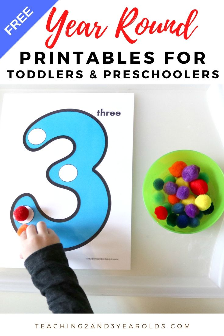 Free Toddler and Preschool Printables for Year-Round