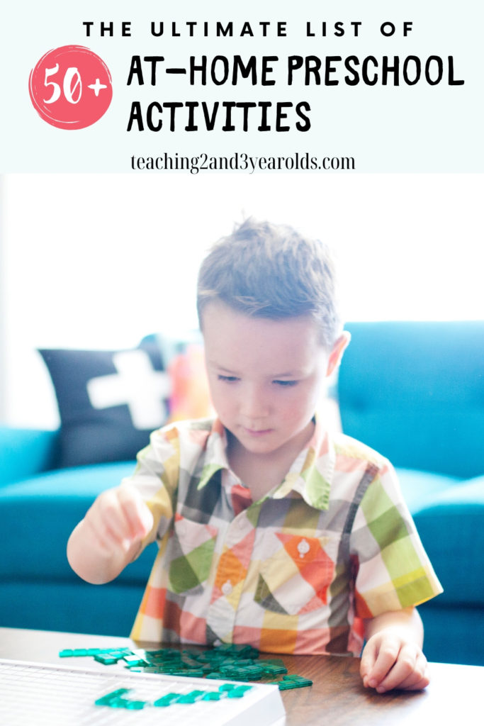 Ultimate List of 50+ At-Home Preschool Activities