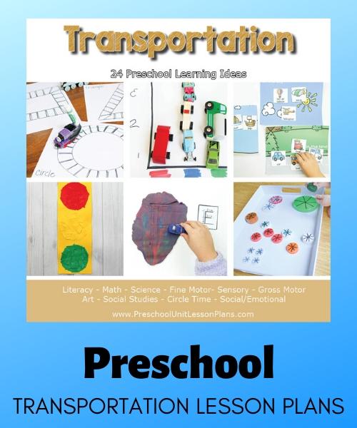 preschool transportation lesson plans
