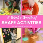 A Week's Worth of Shape Recognition Activities