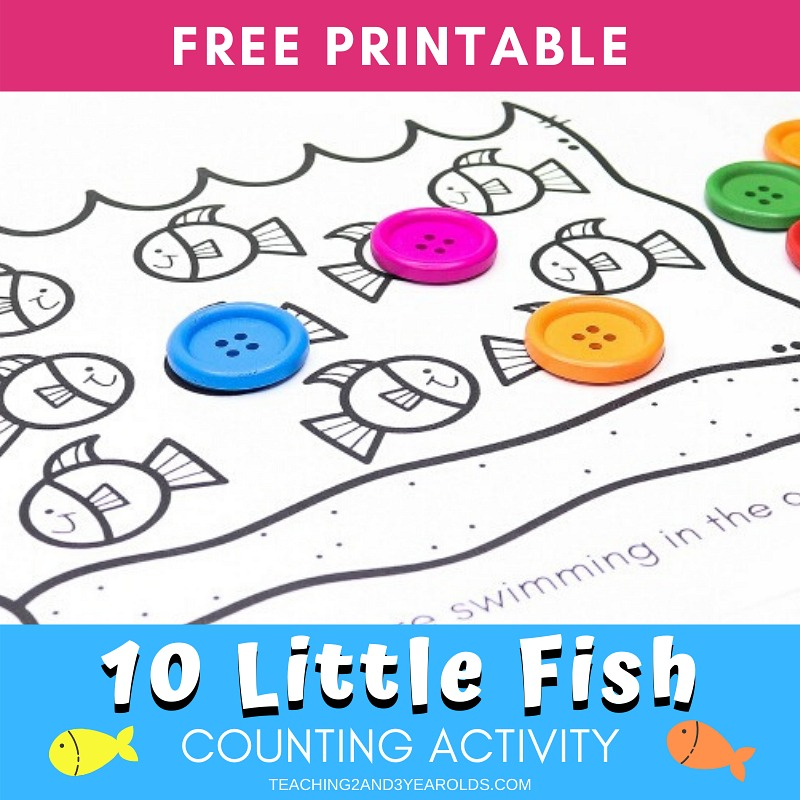 Fish Counting Activity for Preschool