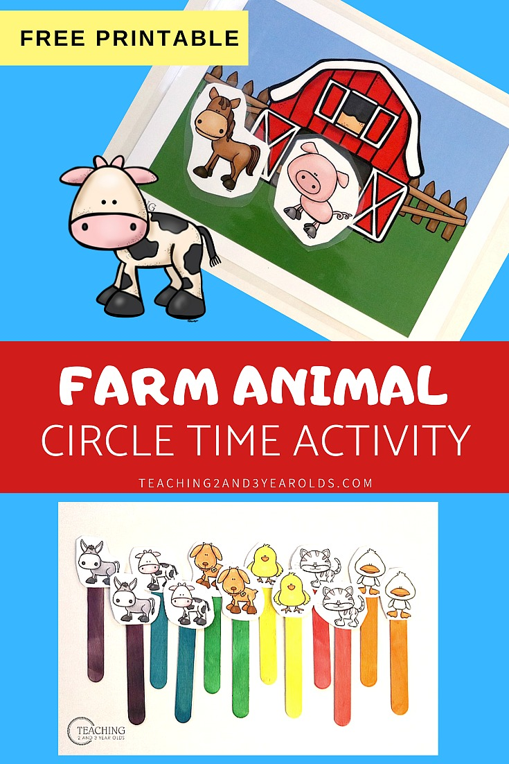 farm animals printable activity