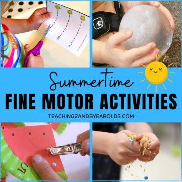 summer fine motor activities for preschoolers