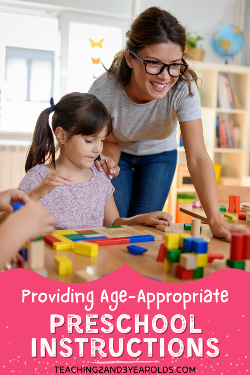 Providing Age-Appropriate Preschool Instructions