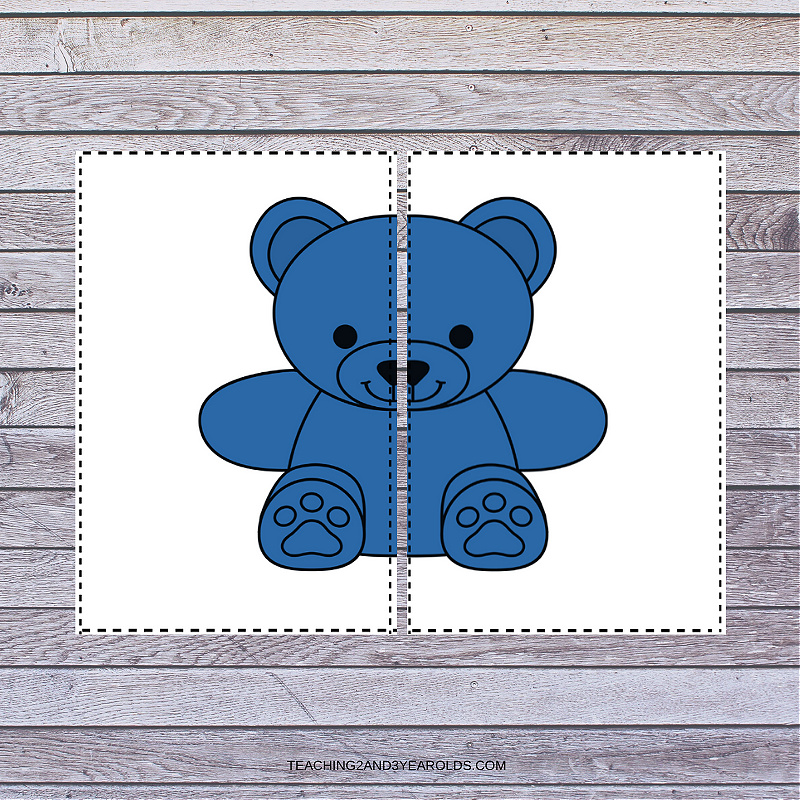 Bear Color Recognition Printable Activity