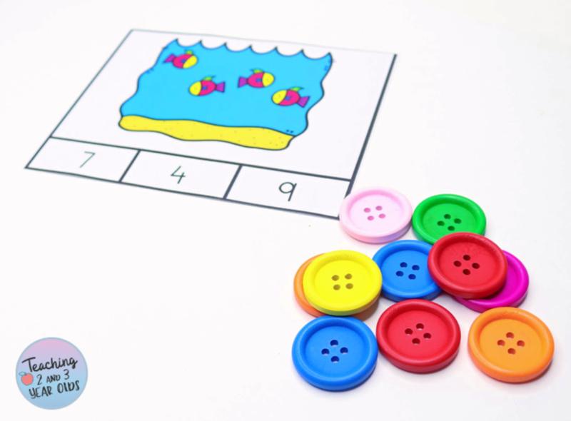 Preschool Ocean Counting Activity