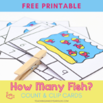 Preschool Ocean Counting Activity
