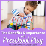 The Benefits and Importance of Preschool Play